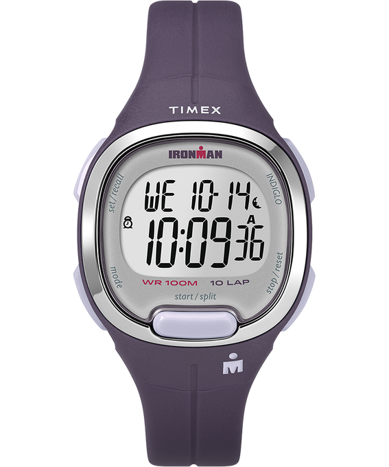 Ironman Essential 10 33mm Mid-Size Resin Strap Watch Purple/Silver-Tone large