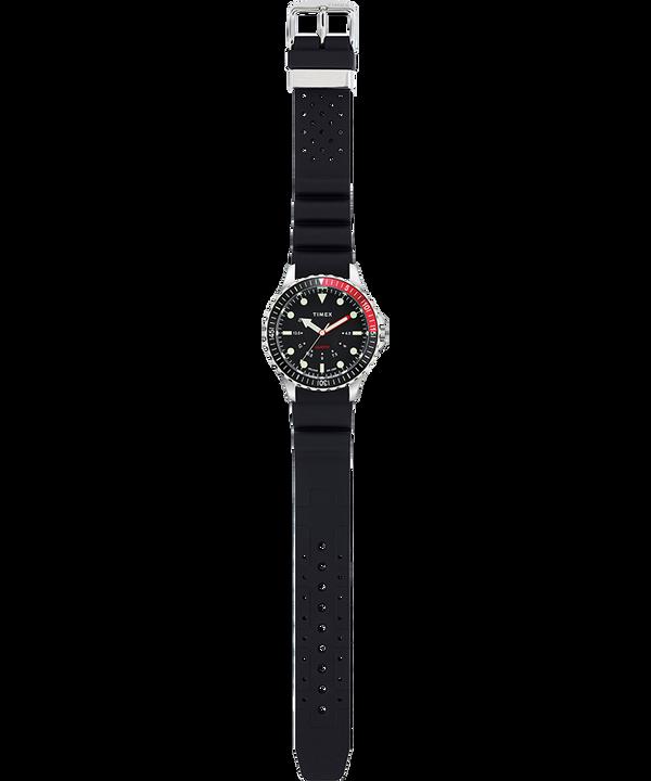 Zegarek Navi Depth 38 mm z paskiem silikonowym Stal nierdzewna/Czarny large
