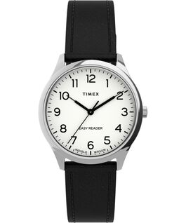 Easy Reader Gen1 32mm Leather Strap Watch Silver-Tone/Black/White large