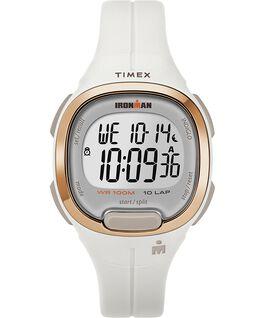Zegarek Ironman Transit 10 33 mm Full-Size z paskiem z żywicy Biały/Różowe złoto large