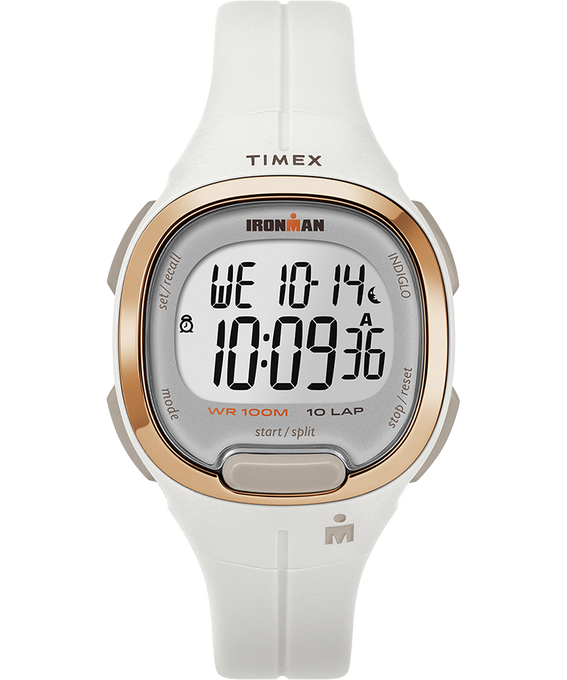Zegarek Ironman Transit 10 33 mm Full-Size z paskiem z gumożywicy Biały/W kolorze różowego złota large