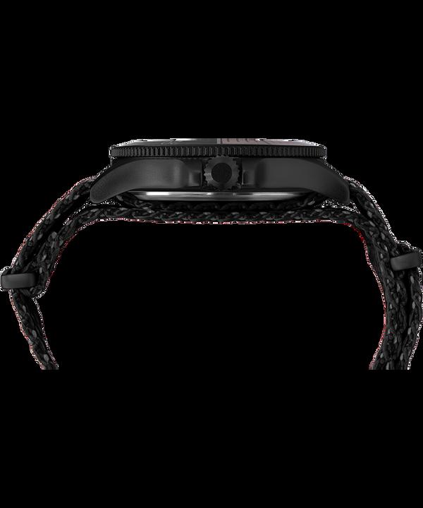 Zegarek Allied® Coastline 43 mm z paskiem materiałowym Czarny/Pomarańczowy large
