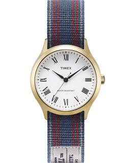 Zegarek Whitney Avenue z kopertą 36 mm i dwustronnym paskiem z grogramu Złoty/Biały large