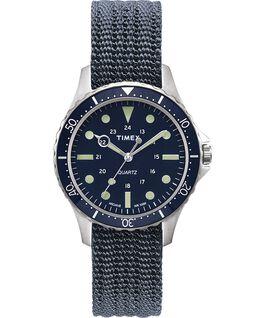 Zegarek Navi Harbor z kopertą 38 mm i materiałowym paskiem Niebieski/Niebieski large