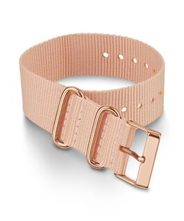 20mm Fabric Strap Slip Thru Single Layer Strap Pink large