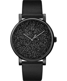 Zegarek Crystal Opulence z kopertą 38 mm, tarczą z kryształkami Swarovski oraz skórzanym paskiem Złoty/Czarny large