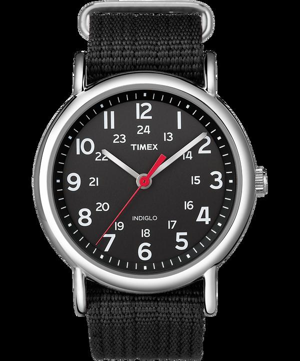 Zegarek Weekender z kopertą 38 mm i nylonowym paskiem  Silver-Tone/Black large