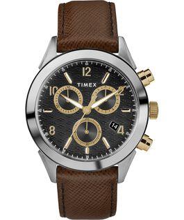 Zegarek męski Torrington Chronograph z kopertą 40 mm i skórzanym paskiem Dwukolorowy/Brązowy/Czarny/Złoty large