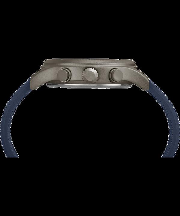 Zegarek Allied Chronograph z kopertą 42 mm i silikonowym paskiem Gray/Blue large