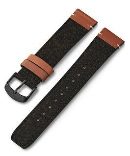 Skórzano-materiałowy pasek 20 mm Czarny large