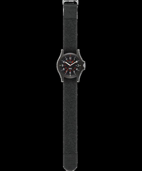 Zegarek Acadia z kopertą 40 mm i paskiem z tkaniny na rzepy Czarny large