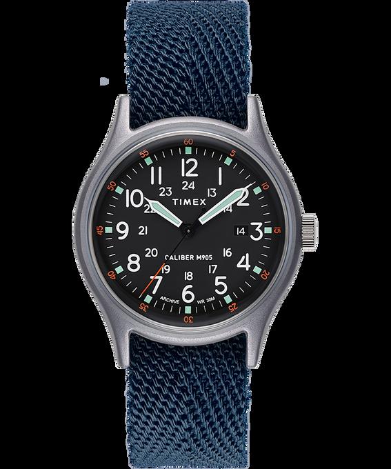 Zegarek MK1 z kopertą 40 mm i paskiem materiałowym Blue large