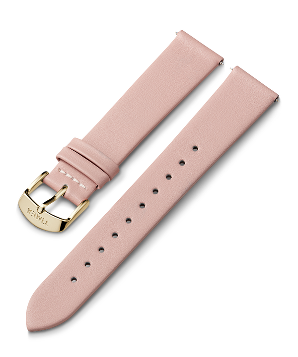 Pasek skórzany 18 mm Różowy large