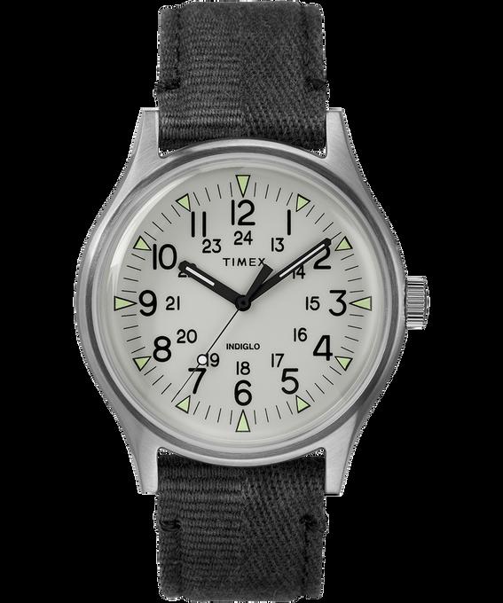 Zegarek MK1 ze stalową kopertą 40 mm i paskiem materiałowym Stal nierdzewna/Czarny/Szary large