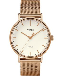 Fairfield 37mm Mesh Stainless Steel Watch Rose-Gold-Tone/Natural large