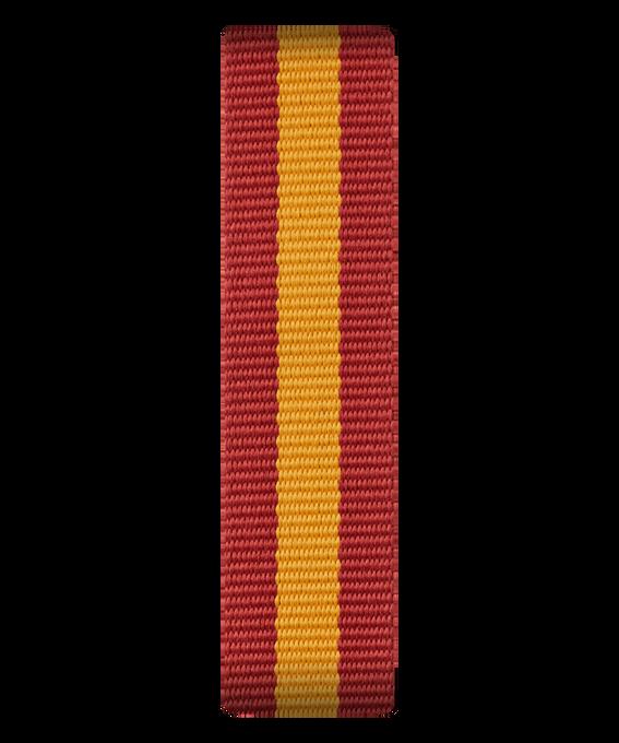 Czerwono-żółty nylonowy przewlekany pasek  large
