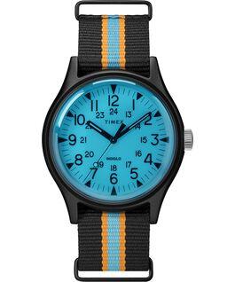 Zegarek MK1 California 40 mm z paskiem materiałowym Czarny/Niebieski large