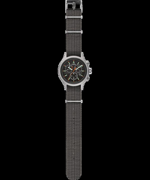 Zegarek Allied Chronograph z kopertą 42 mm i paskiem materiałowym Srebrny/Szary/Czarny large