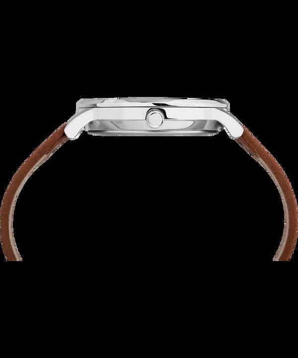 Zegarek Waterbury Classic z kopertą 40 mm i skórzanym paskiem Stainless-Steel/Tan/Black large