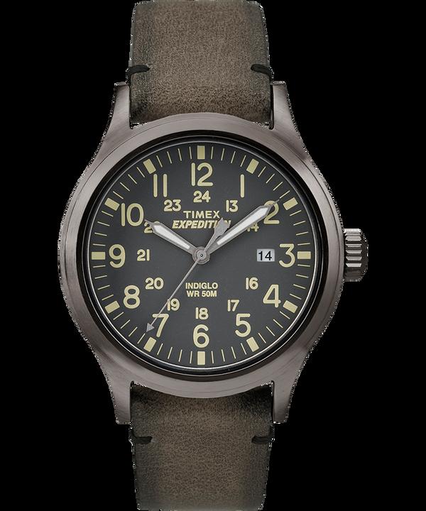 Zegarek Expedition Scout z kopertą 40 mm i skórzanym paskiem Gray/Brown large