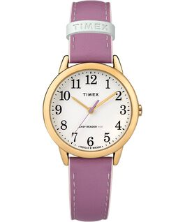 Easy-Reader-30mm-Exclusive-Color-Pop-Leather-Womens-Watch Złoty/Fioletowy/Biały large