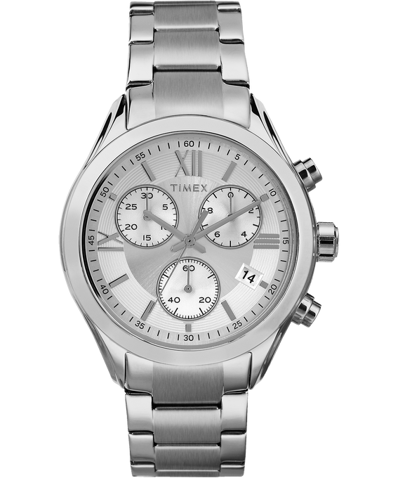 Miami Chronograph 38mm Stainless Steel Watch Silver-Tone large