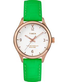 Damski zegarek Waterbury Neon Różowe złoto/Zielony/Biały large