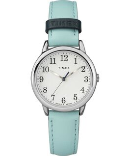 Easy Reader Color Pop 30mm Leather Watch Womens Gold-Tone/Blue/White large