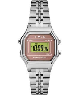 Zegarek Digital Mini z kopertą 27 mm i bransoletą Srebrny/Różowy large