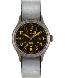 Zegarek Allied z kopertą 40 mm i dwustronnym paskiem materiałowym z mocno odblaskowym detalem Złoty/Czarny large