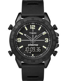 Zegarek Expedition Pioneer Combo z kopertą 41 mm, silikonowym paskiem i szybkozłączką Czarny large