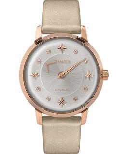 Zegarek Crystal Opulence Automatic 38 mm z paskiem materiałowym Różowe złoto/Szampan/Srebrny large