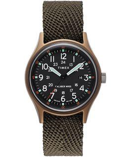 Zegarek MK1 z kopertą 40 mm i paskiem materiałowym Zielony large