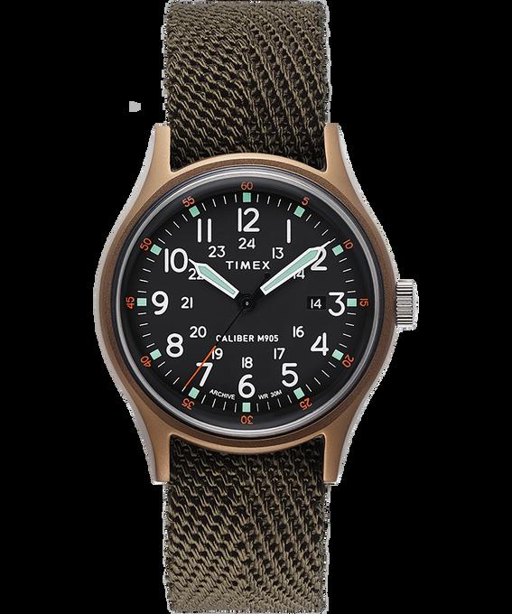 Zegarek MK1 z kopertą 40 mm i paskiem materiałowym Green large