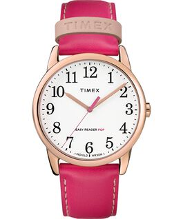 Easy-Reader-38mm-Exclusive-Color-Pop-Leather-Womens-Watch Różowe złoto/Różowy/Biały large