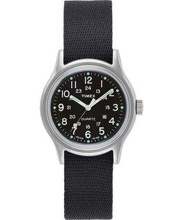 MK1 Military 36mm Grosgrain Strap Watch Silver-Tone/Black large
