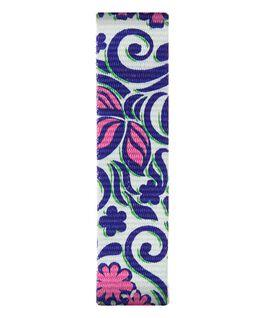 Nylonowy przewlekany pasek z niebiesko-różowym wzorem  large