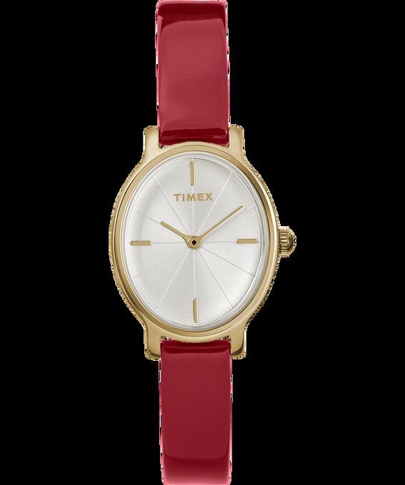 Zegarek Milano Oval z kopertą 24 mm i paskiem z lakierowanej skóry W kolorze złota/Czerwony/W kolorze srebra large