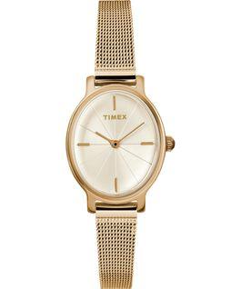 Zegarek Milano Oval z kopertą 24 mm i bransoletą siatkową ze stali nierdzewnej Złoty large