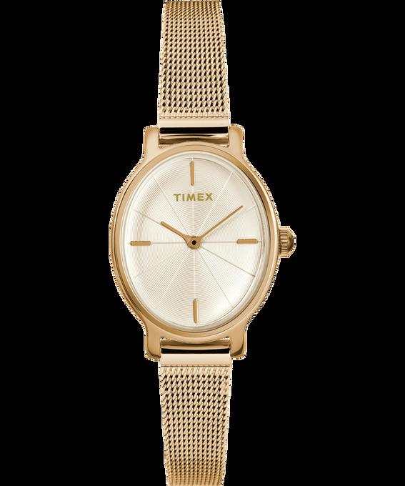 Zegarek Milano Oval z kopertą 24 mm i bransoletką siatkową ze stali nierdzewnej W kolorze złota large
