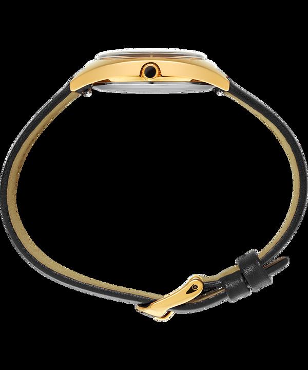 Zegarek Milano 33 mm z paskiem skórzanym Złoty/Czarny large