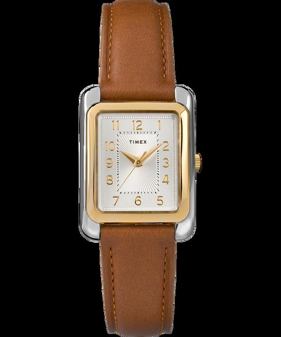 Zegarek Meriden 25 mm ze skórzanym paskiem Dwukolorowy/Brązowy/W kolorze srebra large