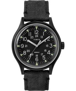MK1 Steel 40mm Fabric Strap Watch Black large