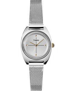 Zegarek Milano Petite z kopertą 24 mm i siatkową bransoletą Srebrny/Stal nierdzewna large