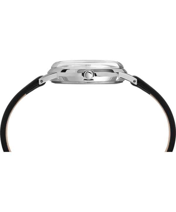 Zegarek Timex x Peanuts wyłącznie dla Todda Snydera z 34mm kopertą i skórzanym paskiem Stalowy/Czarny/Szary large