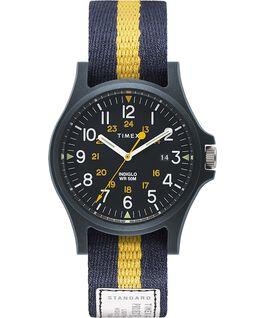 Zegarek Acadia z kopertą 40 mm i paskiem materiałowym Niebieski large