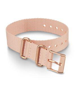 Jednowarstwowy materiałowy pasek przewlekany 16 mm ze sprzączką w kolorze różowego złota Różowy large