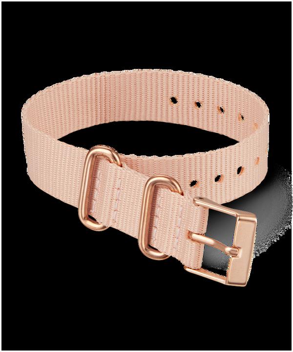 Jednowarstwowy materiałowy pasek przewlekany 16 mm Różowy large