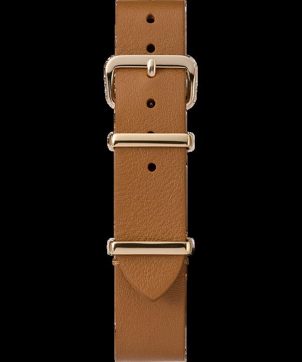 16mm Leather Slip-Thru Single Layer Strap Jasnobrązowy large