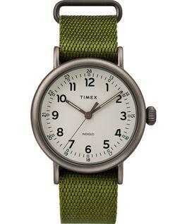 Zegarek Standard z kopertą 40 mm i paskiem materiałowym Black/Green/Natural large